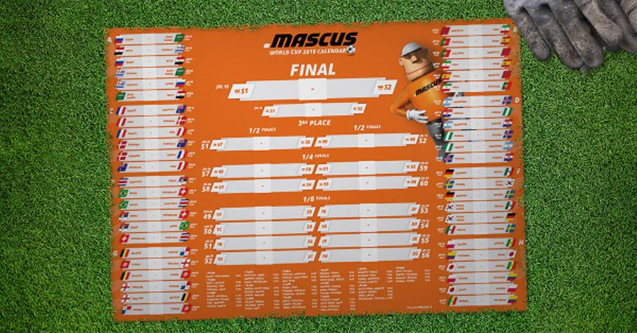 Mascus World Cup Russia 2018 Calendar