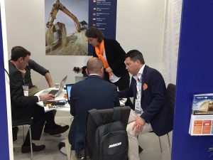 Mascus attending business meetings as Intermat